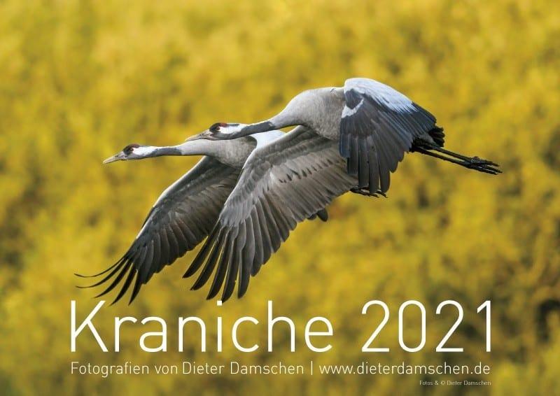 Kalender Kraniche Jahr 2020 von dem Tierfotografen Dieter Damschen hier bestellen